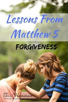 Matthew chapter 5 is packed full of lessons and Christian characteristics that we can learn from and implement in our daily lives. In this lesson we look at forgiveness and the depth to which we as Christians must forgive others. Join me at TerriHamman.com for weekly bible study.