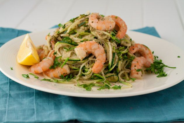 Warmed Pesto Shrimp Zucchini Pasta (4)
