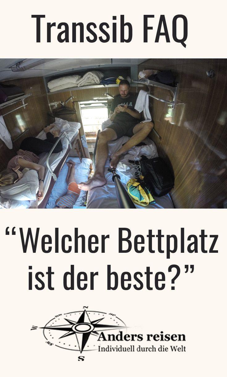 """Eine oft gestellte Frage für die Transsibirische Eisenbahn Reise: """"Welcher Bettplatz ist der beste?"""" Wagenklasse Kupe, Platzkartny, Spalny Wagon? Bett im Abteil oben, mitte, unten längs oder quer? Die Antwort für Deine Reisevorbereitung bekommst Du in den Transsib FAQ."""