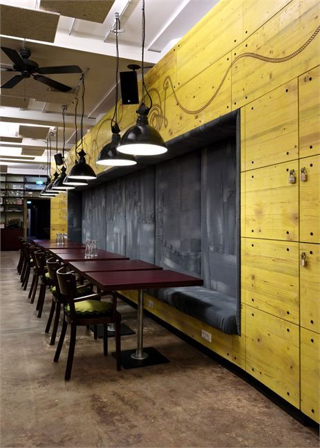 Wednesday Walls - a padded grey recess and a splash of yellow...