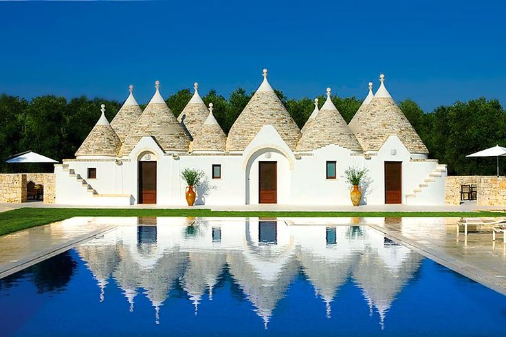 A traditional trulli house in southern Italy's Puglia region.