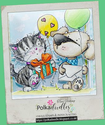 "PaperPlotterLottas - CraftChaos: Polkadoodle: Horace & Boo - ""Party Friends"""