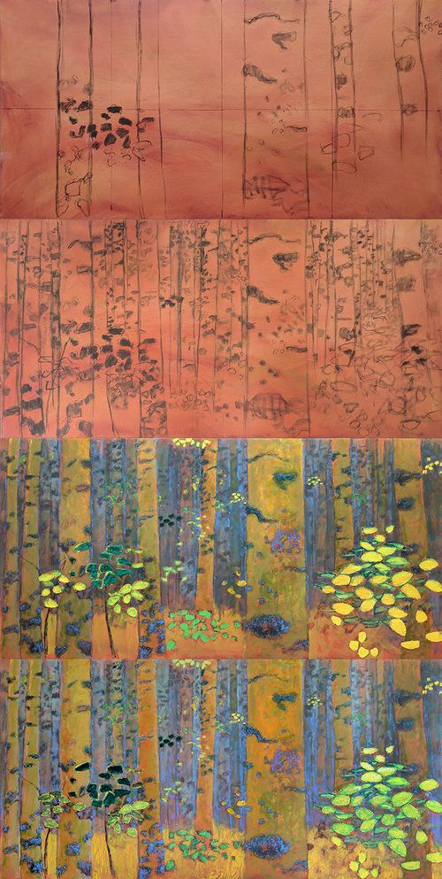 The artwork of Rick Stevens, oil paintings and pastels of contemporary abstract artist Rick Stevens. Based in Santa Fe, NM