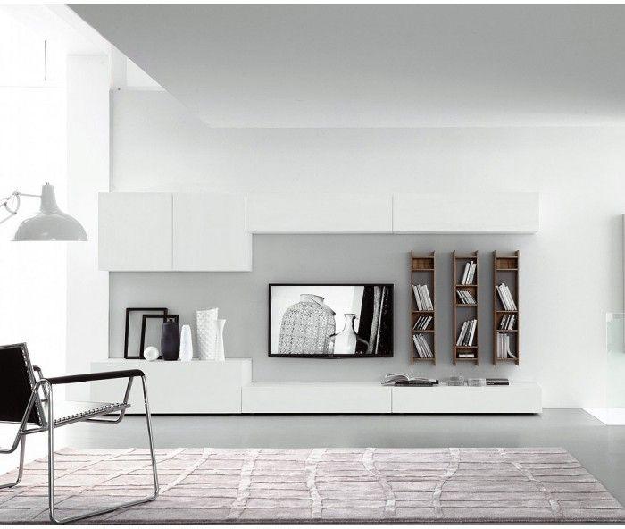 Wohnwand hängend modern schwarz  Die 25+ besten Wohnwand hängend Ideen auf Pinterest | Töpfe in der ...