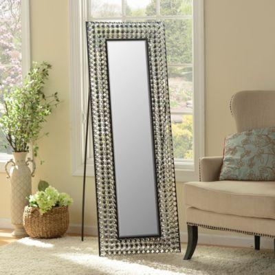 Crystal Bling Cheval Floor Mirror Floor Mirrors Metals