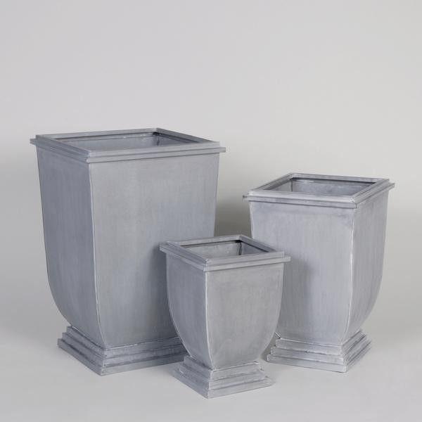 Set de 3 cache pots en zinc cache pot zinc metal conseil for Cache pot exterieur