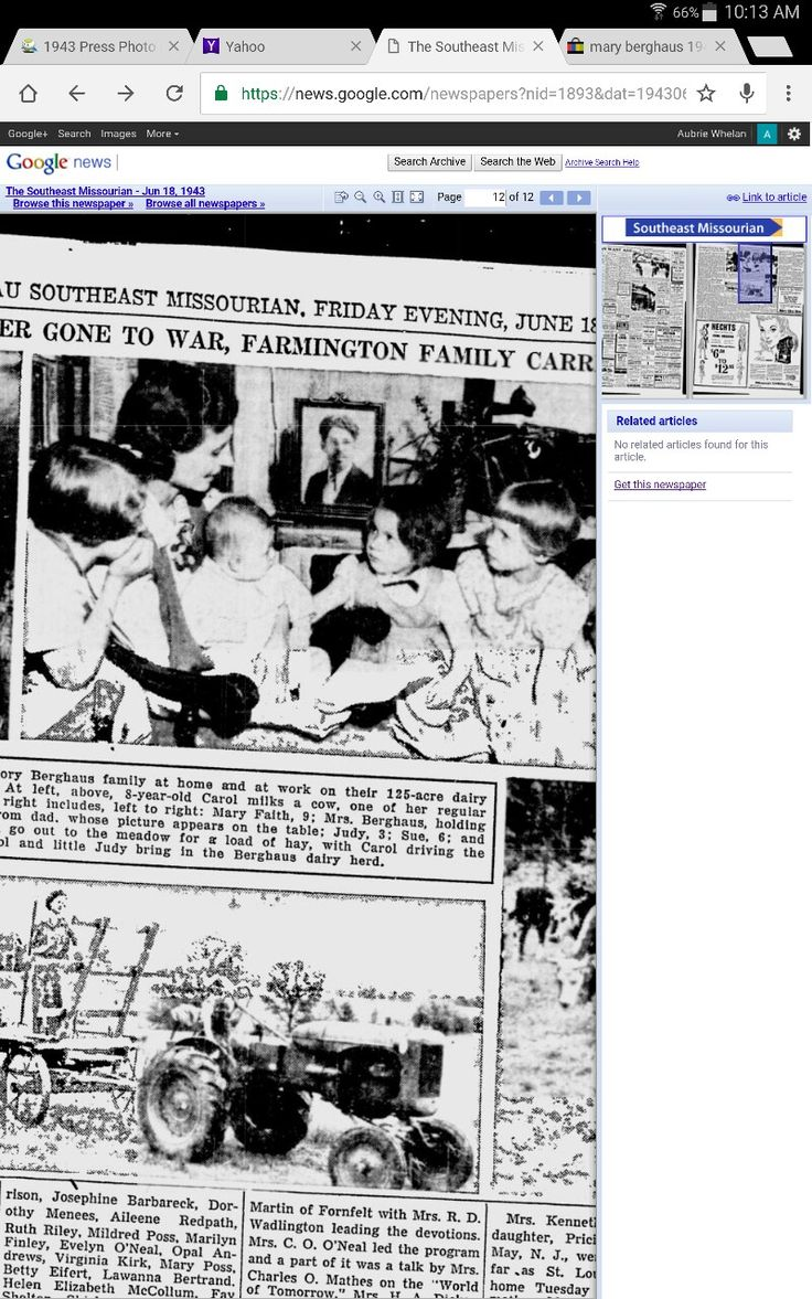 Clip of a news article,  my great grandfather in the picture they sit in front of while he's at war. Left to right, my aunt Mary Faith, my great grandma holding uncle Roy,  my aunt Judy, and my granny Sue.