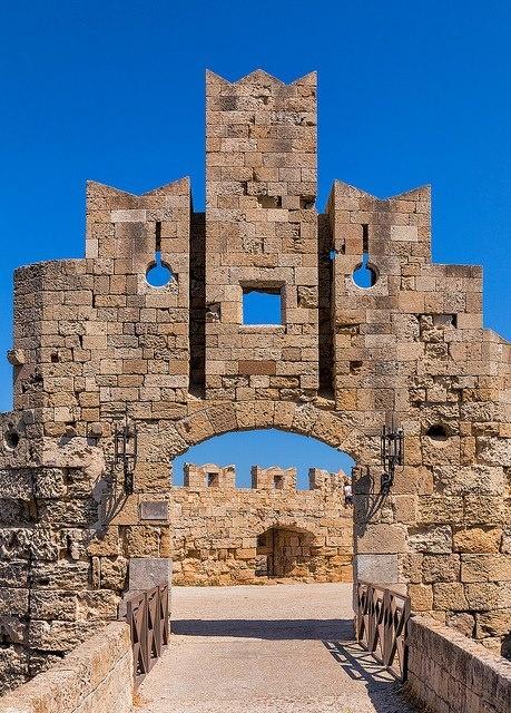 VISIT GREECE  Rhodes Island Medieval entrance, #rhodes #dodecanese #greece