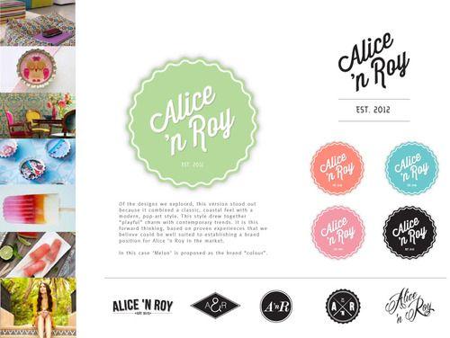 Alice & Roy #FashionBranding #Identity #MaverickDesign