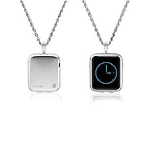 Amazon.com: Vobara Necklace and Protective Case with Screen Protector and Chain for Apple Watch (38mm Silver): Cell Phones & Accessories