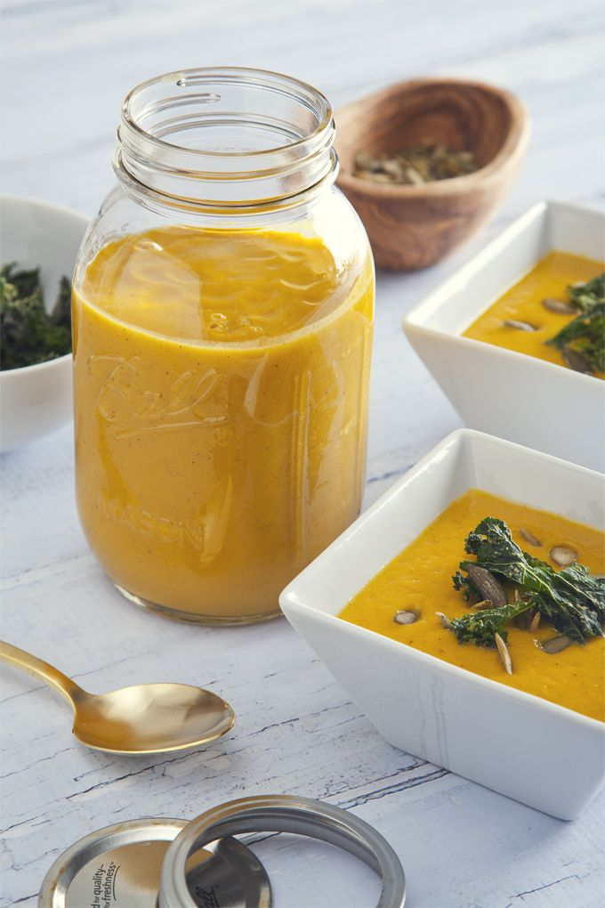 Freezer-Friendly Pumpkin Soup (Vegan & Gluten-Free)   picklesnhoney.com