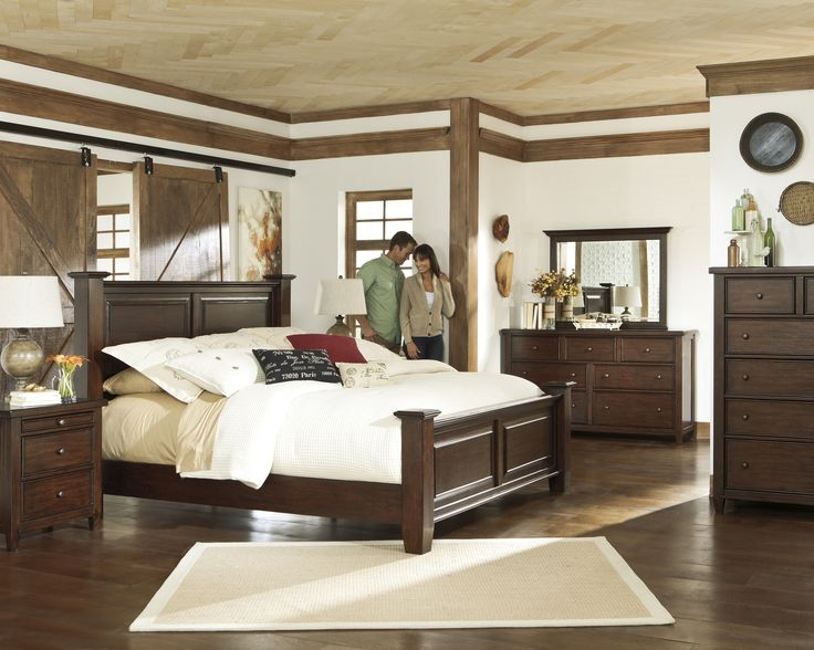 Hindell Park Four Poster Bedroom Collection   Wayfair (Ashley Singature)
