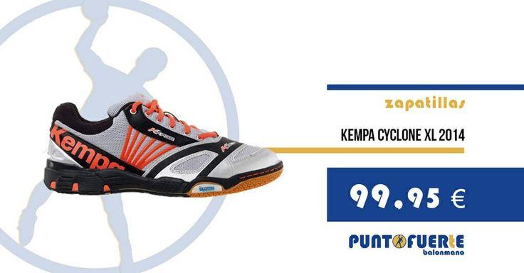 ¡Nuevo modelo! Kempa Cyclone XL 2014 http://btlr.me/1iJBg9D Cualidades: estabilidad, flexibilidad y amortiguación   #zapatillas   #balonmano   #tiendadebalonmano   #zapatillasdebalonmano #Kempa   #Novedad #PuntoFuerte   #KempaCycloneXL2014