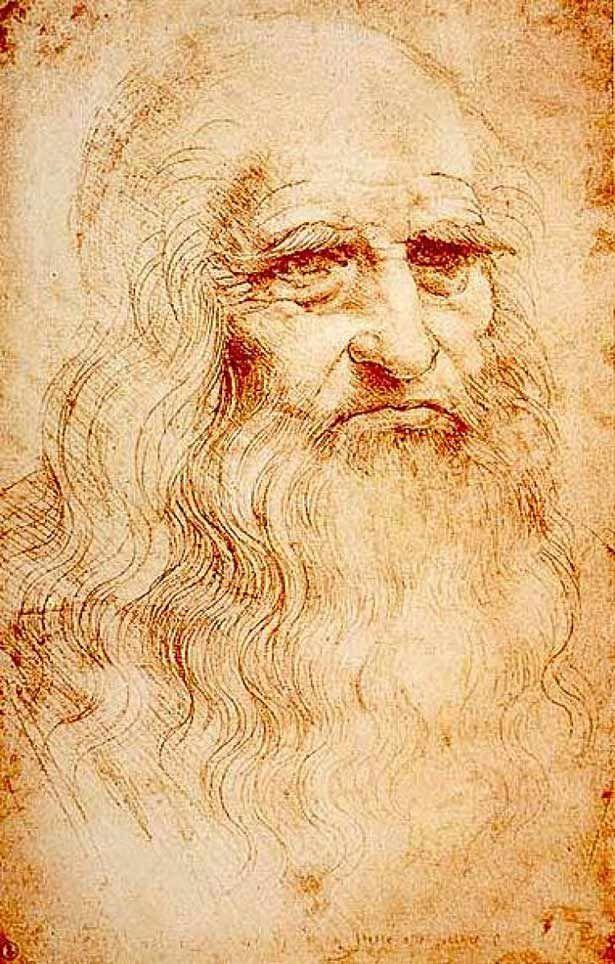 "Leonardo Da Vinci Da Vinci defined the ""Renaissance Man"" with his inventions, art and scientific theories. This self-portrait of the famous artist and inventor was composed in red chalk. Date: 1512-1515. Artist: Leonardo da Vinci."