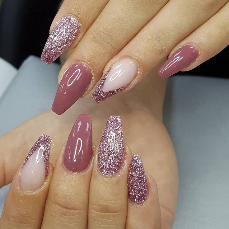 Rosey posey color gel and Pink platinum glitter gel from Light Elegance by @lightelegance_nailproducts