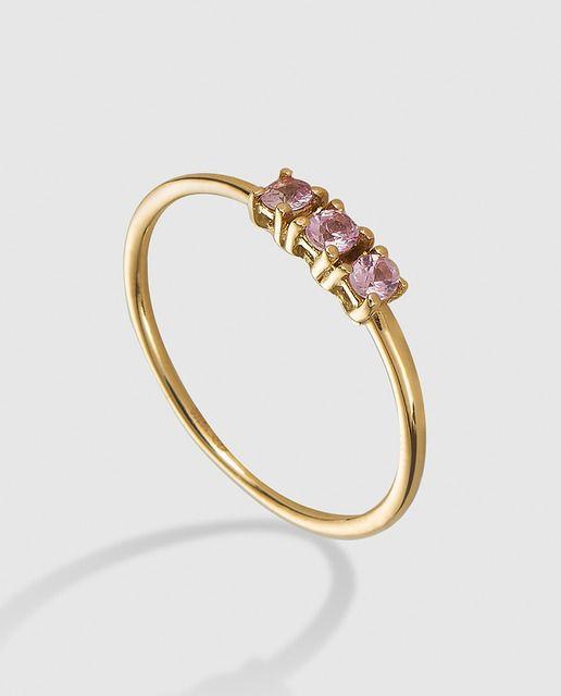 4873b58b0f2f Anillo de oro amarillo y diamantes Círculo