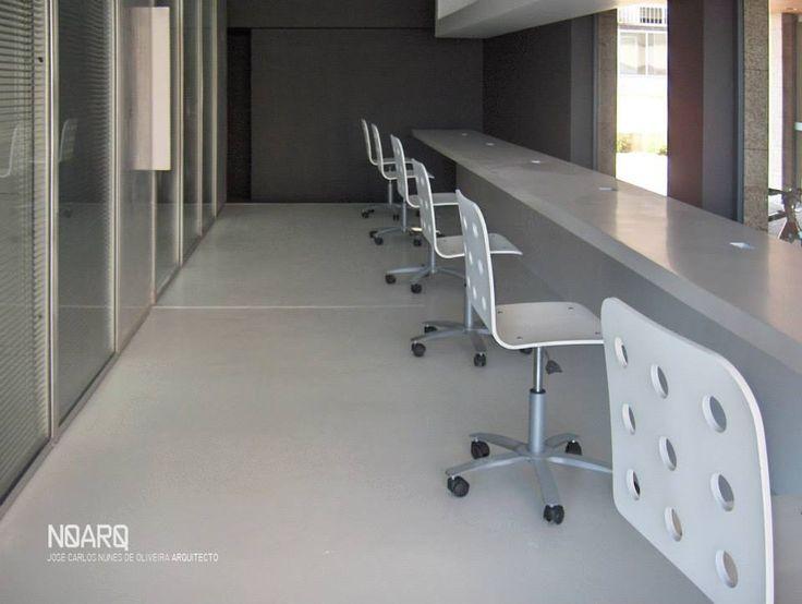 VACSY – Operator/Telephonist Room  - #noarq  #renovation #interiors #epoxi #furnituredivisionwall #furnituredesign #greydesign  by José Carlos Nunes de Oliveira - © NOARQ - Photography by  José Carlos Nunes de Oliveira