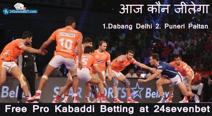 ProKabaddi Betting 13th Match Puneri Paltan Vs Dabang Delhi. Predict Who Will #Win Today's Match. Place Free Bet & Win Prizes Online