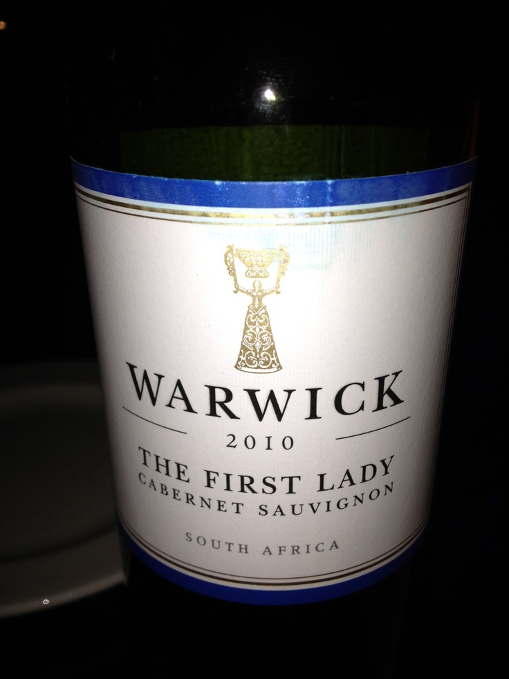 This is a South African wine from what I understand is the first woman-owned winery in that country - Warwick.