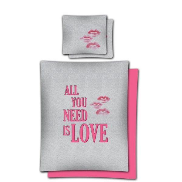 Súprava romantických posteľných obliečok ružovej farby