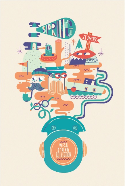 Wesc Spring Collection by Jose Miguel Méndez, via Behance