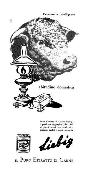 La pubblicità dell'estratto di carne Liebig negli anni '50  Di Ricciuti R.