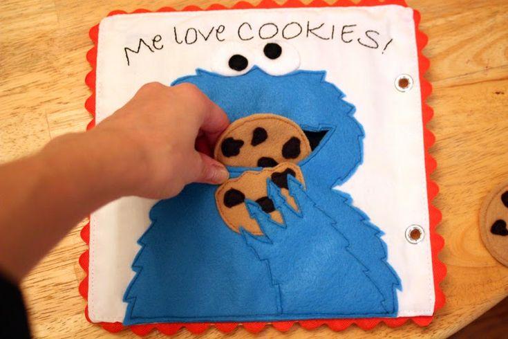 Get Your Craft On: Sesame Street Quiet Book- Cookie Monster
