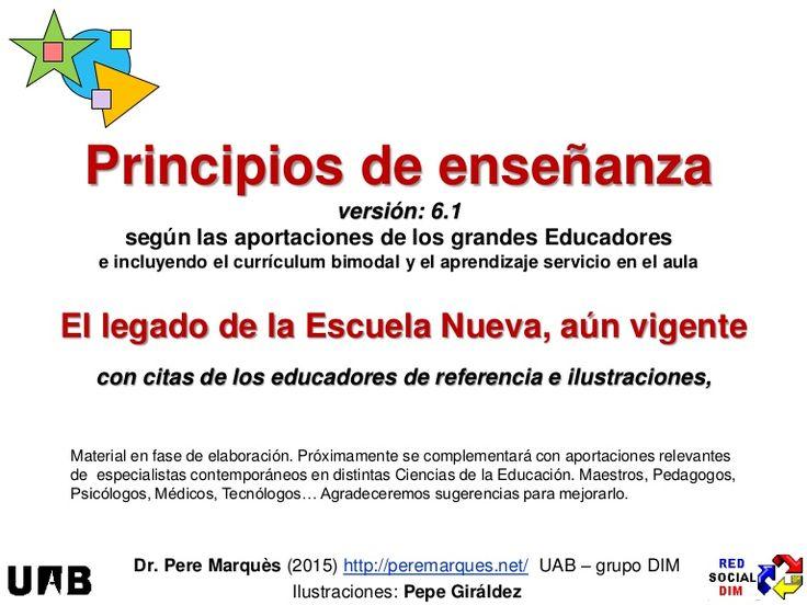 Resumen para refrescar de principios de la enseñanza (con