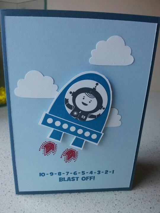 14 best stampin up fr kleine astronauten images on pinterest stampin up blast off card kids birthday bookmarktalkfo Images