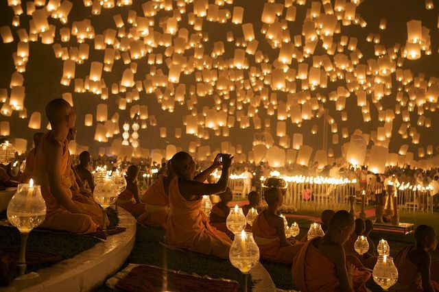 Check out the Floating Lanterns in Thailand #jetsetter #bucketlist