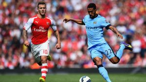 Whoops: Man Citys Gael Clichy mistakenly refers to the Etihad as his old Arsenal home (Video)