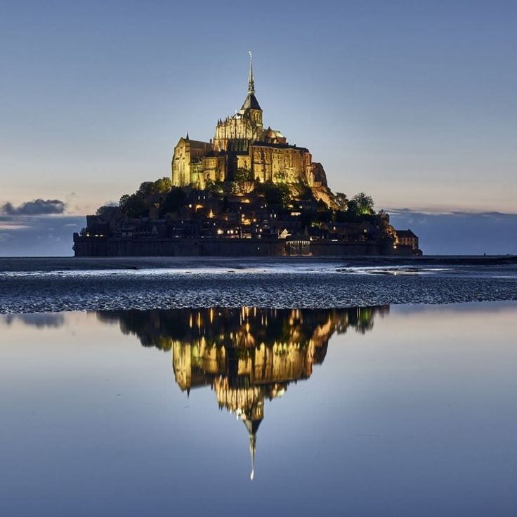 Wow - It looks beautiful! Le Mont-Saint-Michel is an #island commune in Normandy, #France. It is located about one kilometre off the country's northwestern #coast, at the mouth of the Couesnon #River near Avranches and is 100 hectares in size. #MontSaintMichel #Travel #Mustwatch #Traveler #Travelstarpro