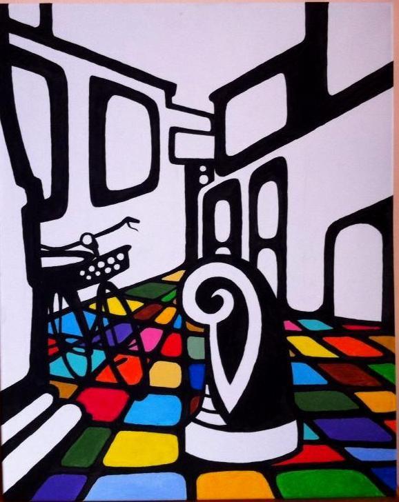 Amsterdam. 40X50cm. Acrylic on canvas.