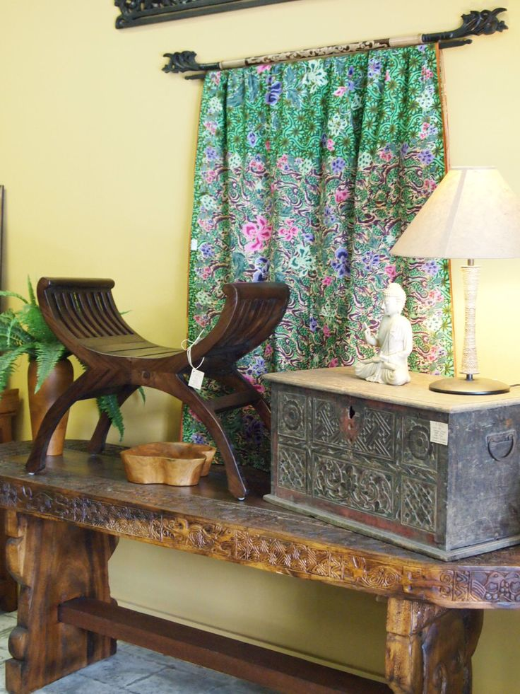 Indonesian furniture, batik and home accents from Gado Gado.