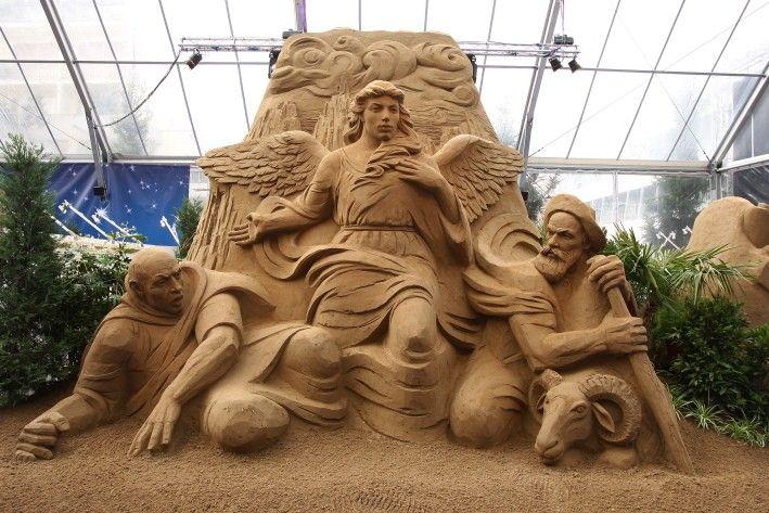 Natale tra le sculture di sabbia di Jesolo