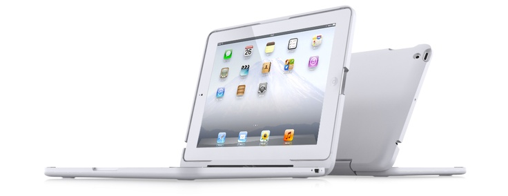 This case turns your iPad into a laptop!  How awesome is this!!!