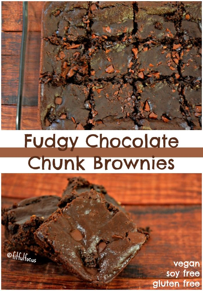 These flourless, fudgy chocolate chunk brownies will make your mouth water. So scrumptious you won't believe they're vegan and gluten free! Happy Monday! Did you all have a Happy Hallow…