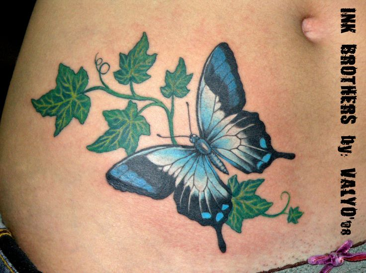 Butterfly and Ivy by InkBrothersBG.deviantart.com on @deviantART