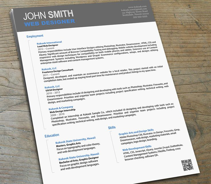 Graphic design resume writing services