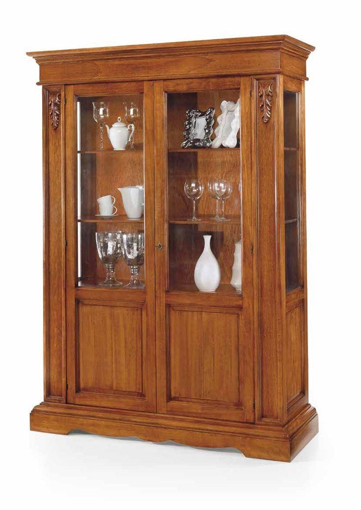 Έπιπλα Σπιτιού - Βιτρίνα Ξύλινη με 2 πόρτες Classical Collection