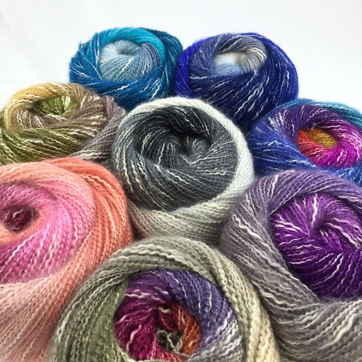 Shawl in a Ball is here!!! 1 skein makes a shawl in 8 gorgeous colorways - get yours now!