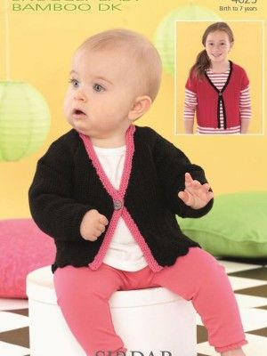 Easy baby cardigan knitting pattern instant download by Sirdar! #knitting #yarn #baby