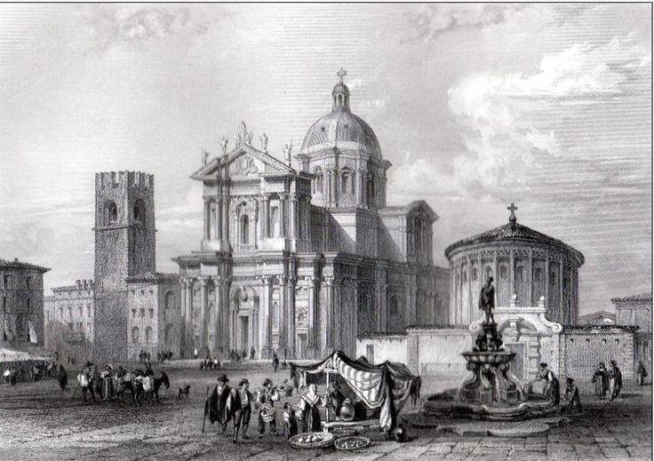 La Cattedrale e piazza Duomo - 1854 Cartolina francese inviata da Giuseppe Sandoni http://www.bresciavintage.it/brescia-antica/cartoline/la-cattedrale-piazza-duomo-1854/