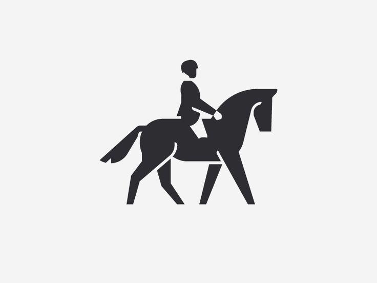 Horseback Rinding Icon Design #icon #icondesign #iconic #iconography #picto #pictogram #symbol #mark #id #brand #sign #ride #riding #horse #horseriding #horseback #sports #dressage #animal