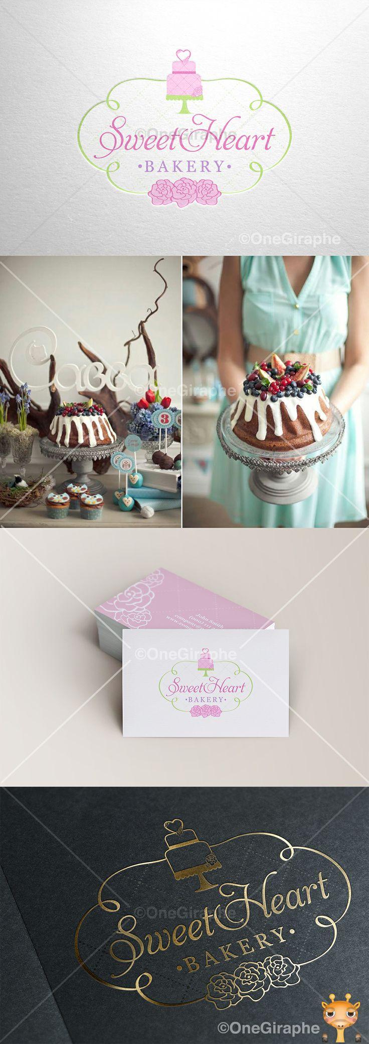 SweetHeart Bakery www.facebook.com/sweetheartbakerymoscow #cake #cupcake #cake #bake #bakery #logo #portfolio #design #graphic #graphicdesign #designer #cute #cake #stand #cupcake #pink #behance #logopond #brandstack #bestdesigner #brand #identity #brandidentity #gold #clasic #portfolio #professional