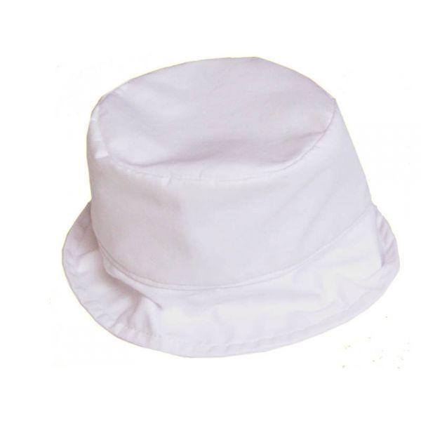 Chapeau bébé, coton blanc  par Poussin Bleu  du 3 mois au 8 ans      Votre enfant pourra porter ce chapeau en coton  pour une cérémonie, pour son baptême ou les jours de grand soleil  Facile à associer avec toutes ses tenues      Chapeau blanc bébé et enfant en coton  doublé coton     Taille: naissance au 8 ans