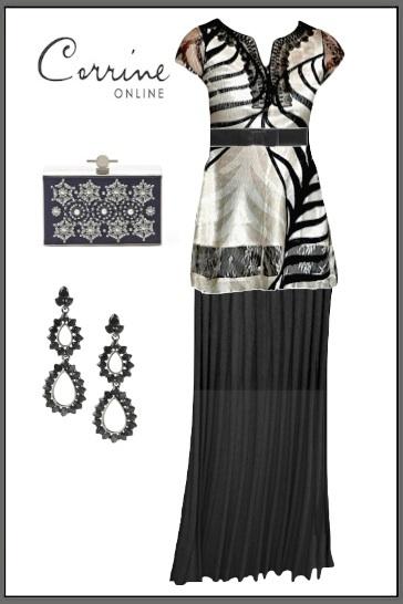 Komarov Clothing Tunic & Crea Concept plisse skirt