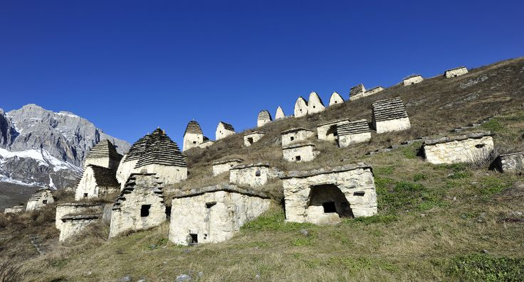 The mysterious village of Dargavs, otherwise known as the City of the Dead, lies in a deserted valley in North Ossetia, Russia.