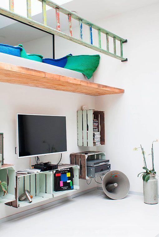Decorar con muebles reciclados: mueble para el televisor