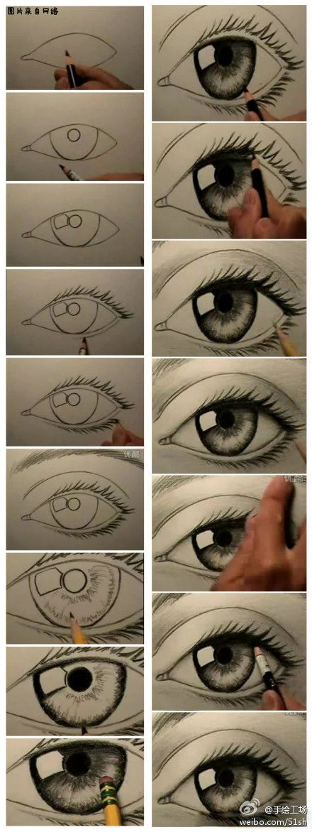 I don't draw much, but I do like to draw eyes.
